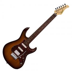 Cort elektromos gitár, tobacco burst